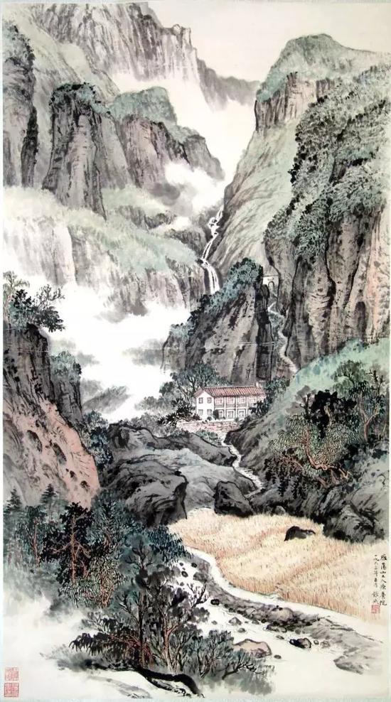 雁荡工人疗养院   张守成   1963年作   上海中国画院藏