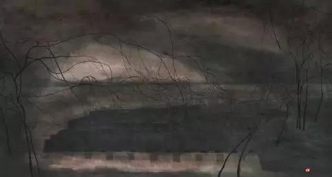 《秦淮夜话》 97cm×180cm   刘红沛