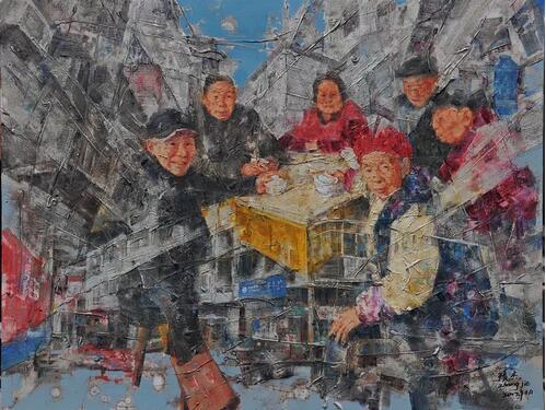 张杰《空巢记》之十五 130cm×100cm 油画 2017