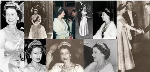 """英女王伊利沙白二世年轻时亦经常戴""""珍珠泪王冠"""""""