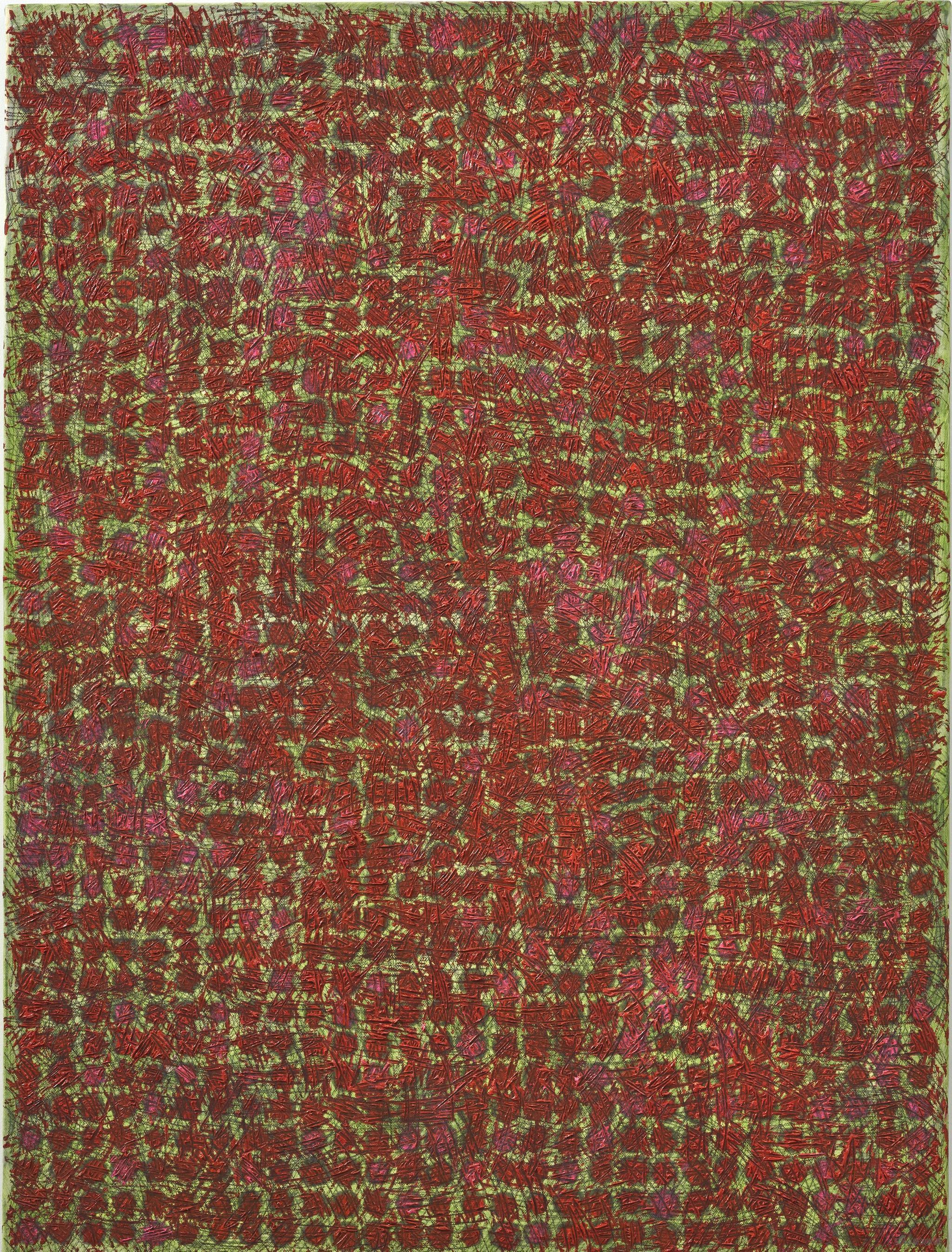 陈墙CHEN Qiang,Work 13-9,2013,布上宣纸、墨和油彩 Rice paper, ink and oil on canvas,120 x 90 cm