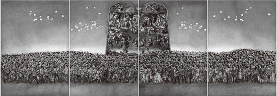 2013年 《广场舞的舞蹈NO.1》 平板 108x145cm 张敏杰