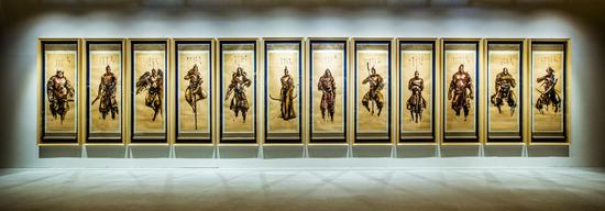 展览现场之作品《十二生肖手稿》