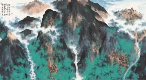 《溪山深处》 97cm×178cm 韩显红 江苏省中国画学会副会长