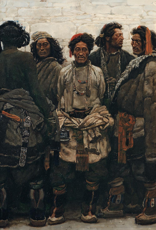 康巴漢子 板上油畫 79x55.3cm 1980年