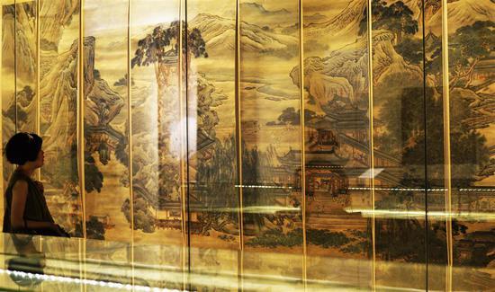 《清代中期绘画特展》展览现场