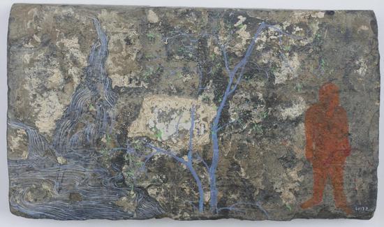 砖画-制造山水-03,尺寸,28-42cm,材质,古砖丙烯,年代2016