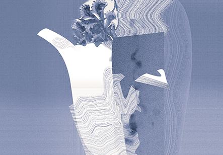 卢治平作品  平静内敛的力量之三,丝网,54×78cm 2018