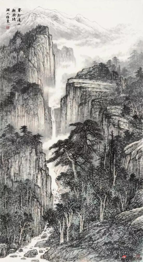《塞外溪山新染绿》 178cm x 96cm   邓维东