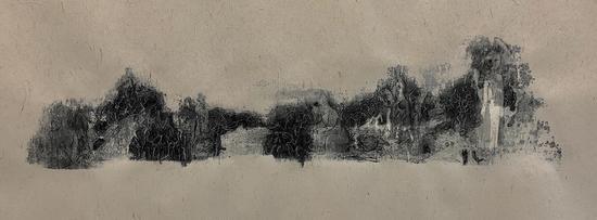 湖北美术学院油画专业参展艺术家张家豪创作的综合伙料作品《万物发展》