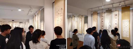 组团而来的安徽九华山的十几位书画爱好者。