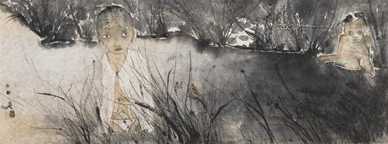 刘庆和 《浅水》 51×135cm 纸本水墨 2016