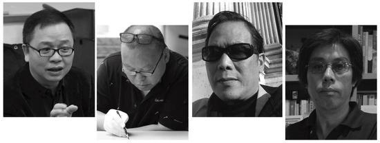左起(按姓氏笔画顺序排列):方少华、石磊、李邦耀、杨国辛
