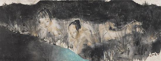 刘庆和 《着凉》 51×135cm 纸本水墨 2016
