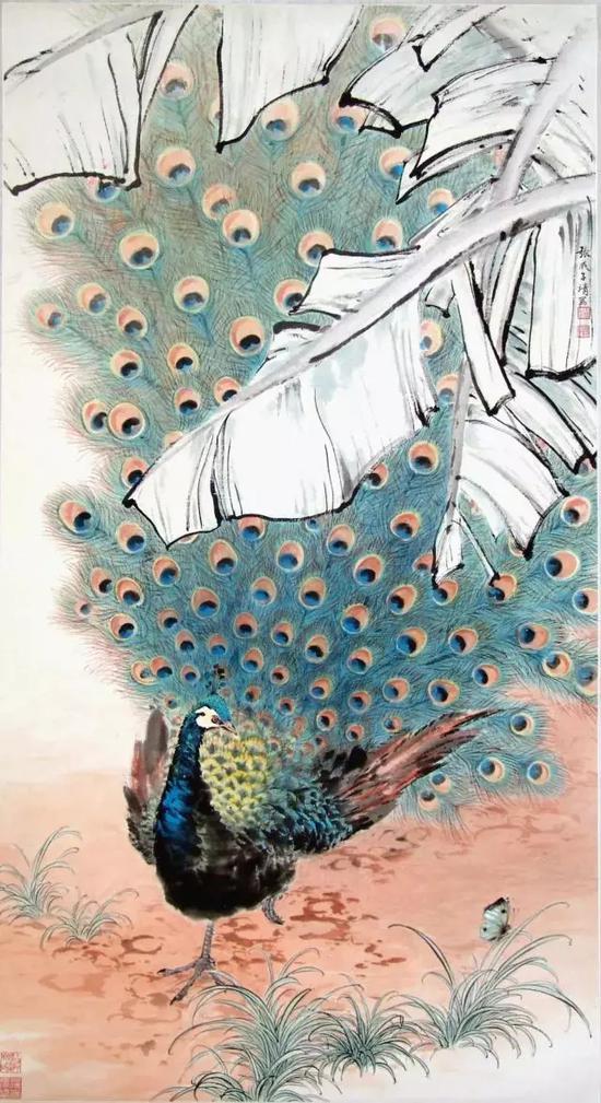 蕉荫翠羽   张守成   约上世纪70年代   上海中国画院藏
