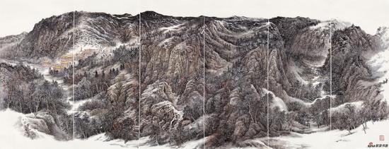 山舞银蛇 190×520cm