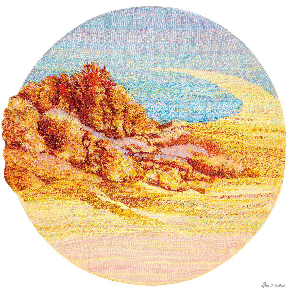 《山脉系列1》高比林编织工艺 直径125cm 2020