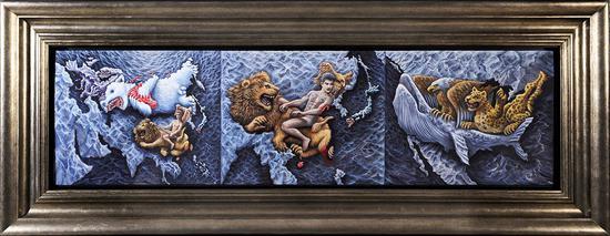 王斐作品 文明史 之二 150x40 cm 布面油画 2012