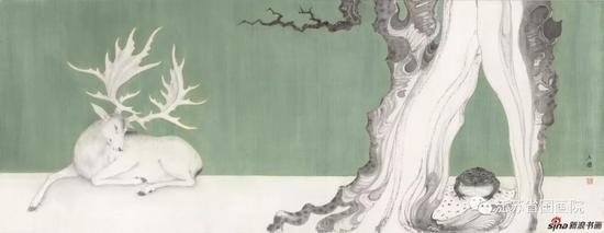 李金国 《古树》 45cm×120cm