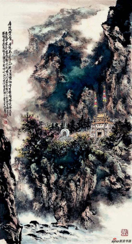 《寺院梵音》 178cm×96cm   章志远