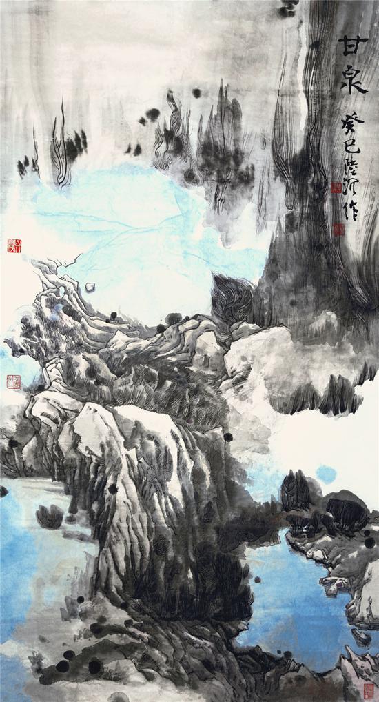 陆沉,甘泉180_97cm 2013年-