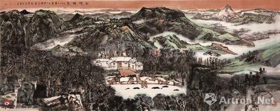 《韶山神韵》 材质:纸本 尺寸:140×407cm