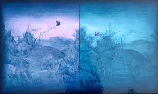 《生生不息——平行世界》100x60cm 布面油画