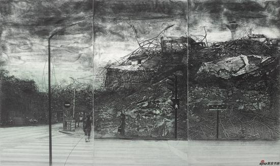 付河江《文明影像·城之山水》0X118cm 铜版2013年
