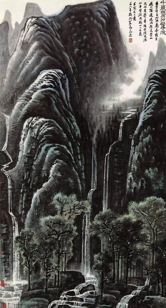 李可染先生的作品《千岩竞秀万壑争流图》1.265亿元成交