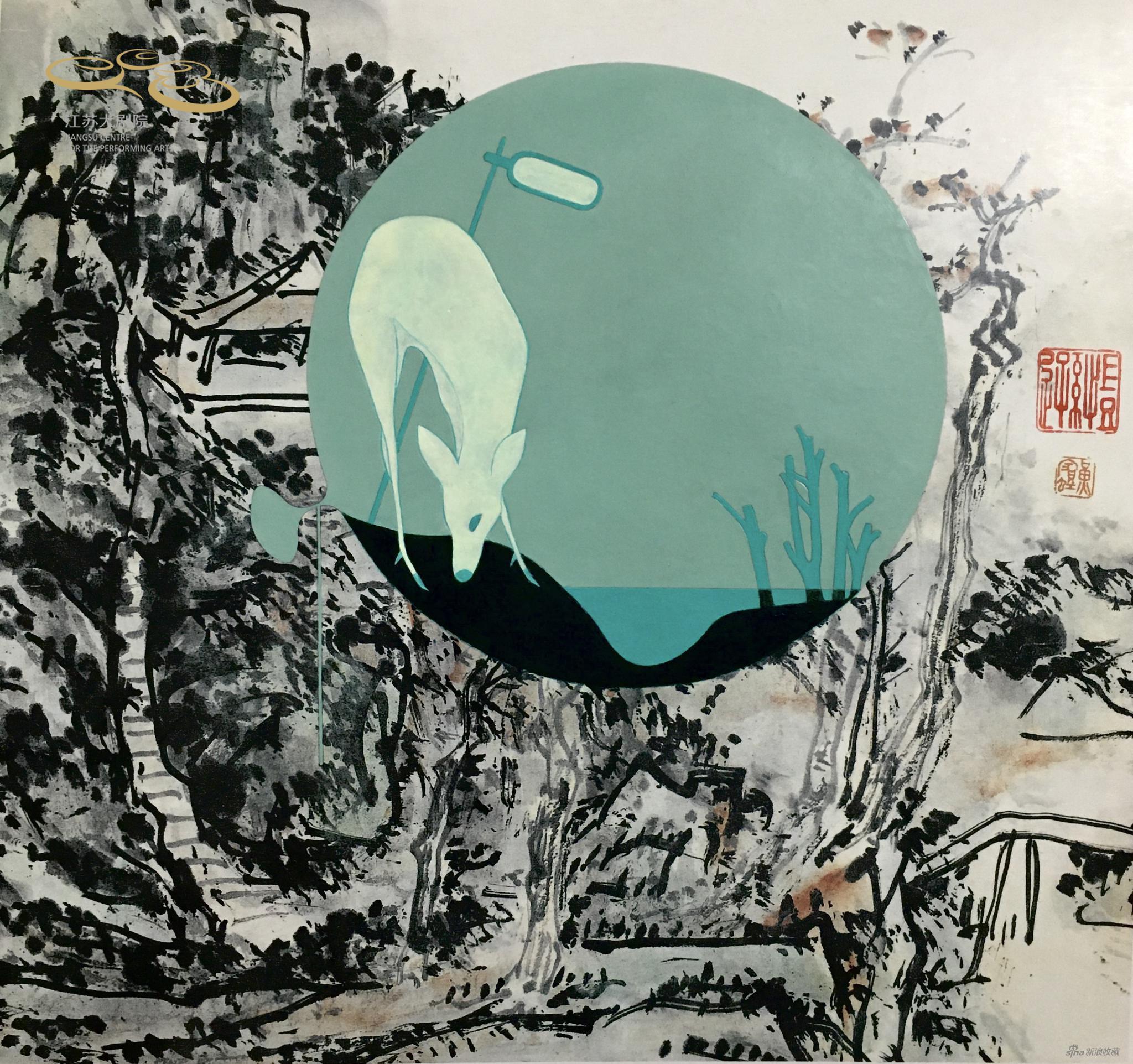 世·界,27x26cm纸本设色,2016