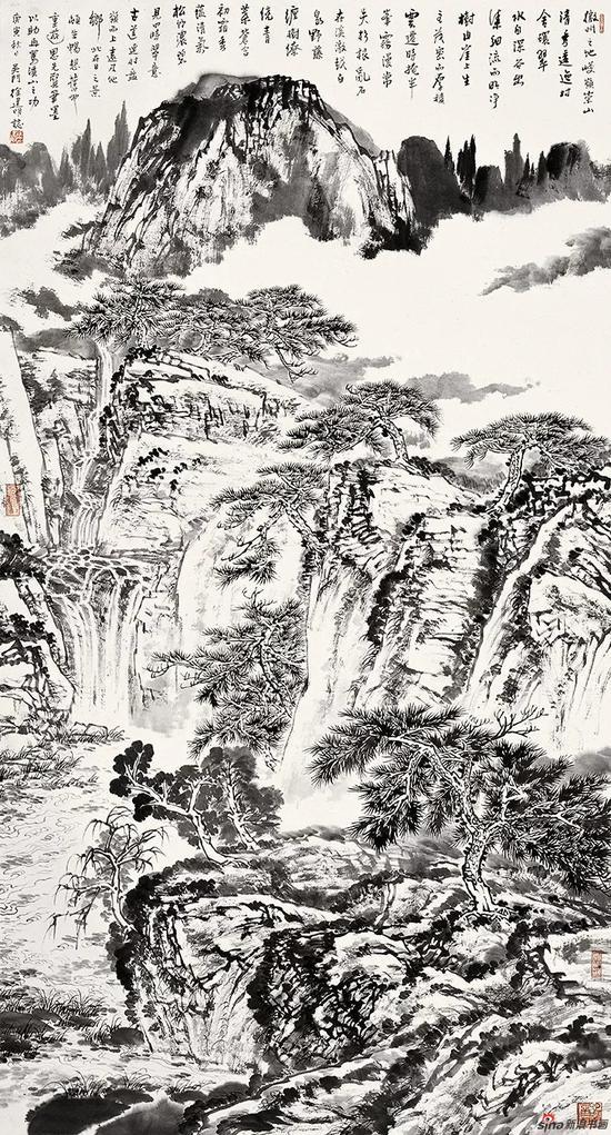 徽州山水 180×96cm 2010年