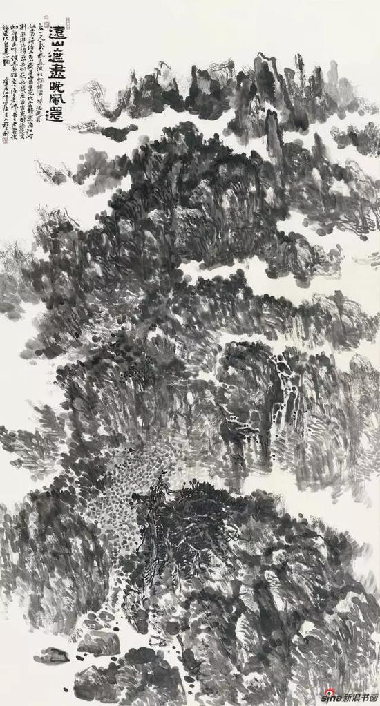 《远山遮尽晚风还》 179cm x 97cm   程大利