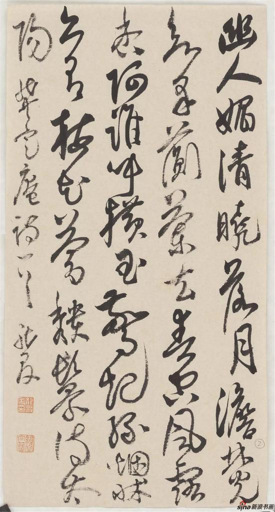 """龚自珍诗""""幽人媚清晓"""",纸本,19×36cm,2018年"""