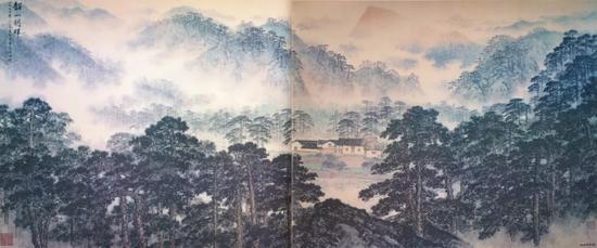 宋文治 金志远 合作《韶山朝晖》1978年 毛主席纪念堂藏