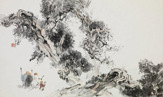 李亚光 《清奇古怪》65cmx40cm 中国画 纸本设色 2017