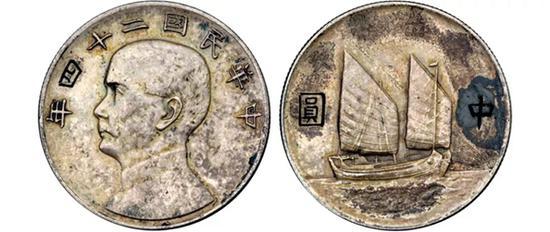 中央造币厂以库存之金本位币手工刻制雕样图