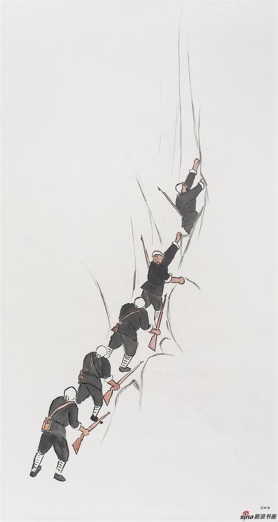 夜之三 180x97cm 纸本水墨 2013 武艺