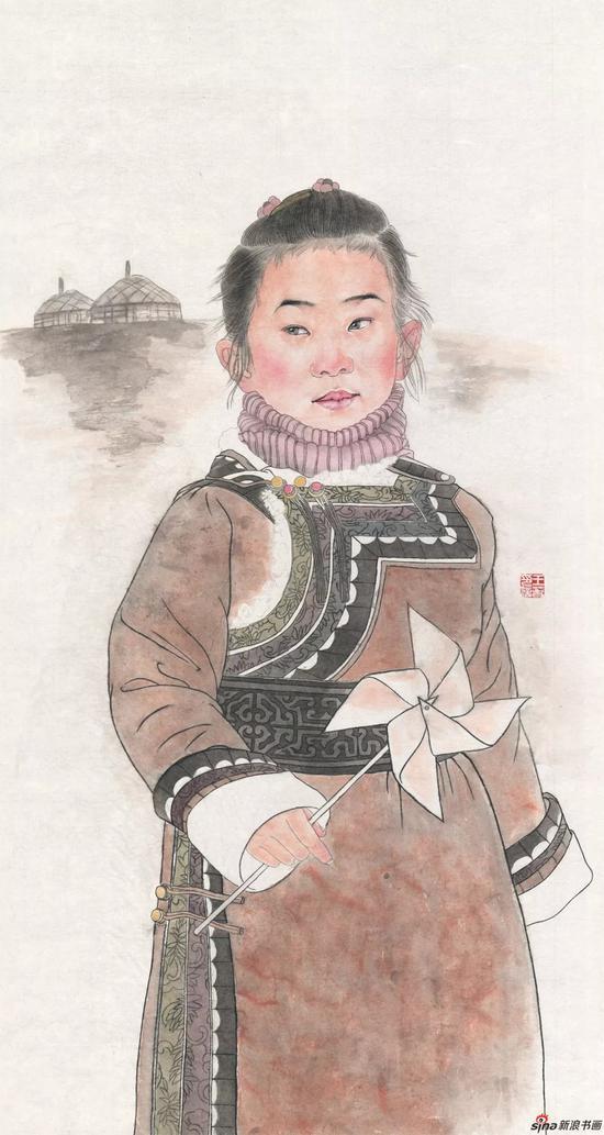 大風車 王春 國畫
