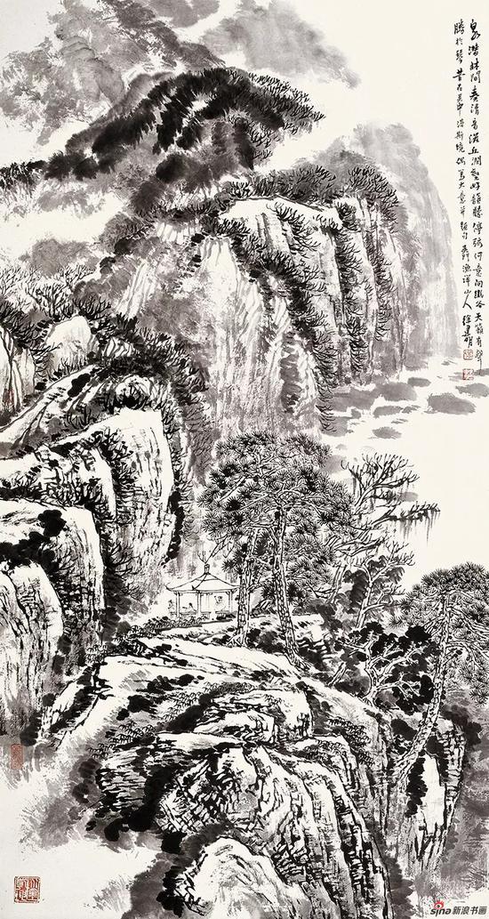 泉潜林间奏清音 180×96cm 2011年