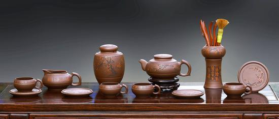 艺术家毛国强作品 暗香浮动十二件套具