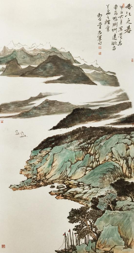 赵志军 香江之春 192x96cm