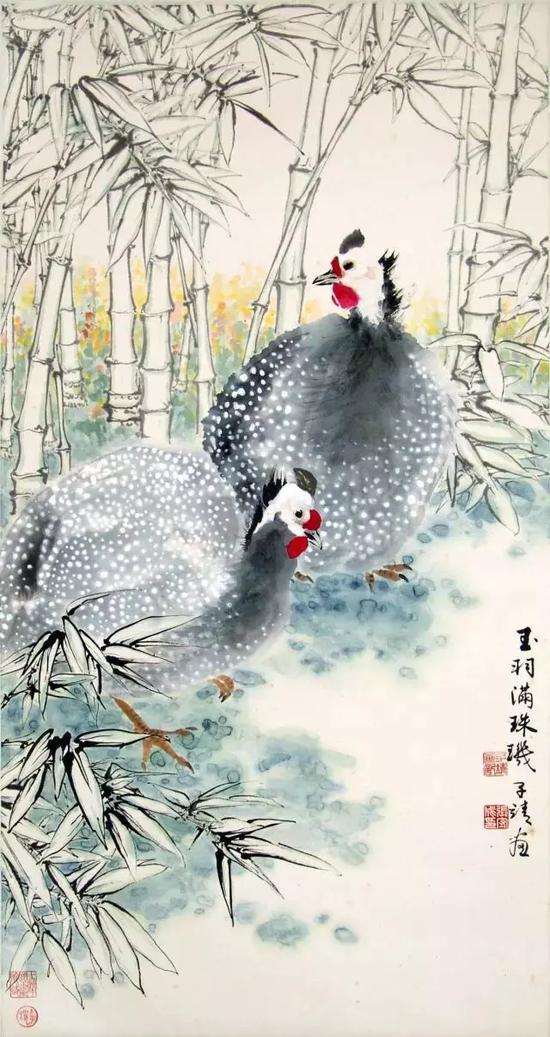 珍珠鸡   张守成   1979年作   上海中国画院藏