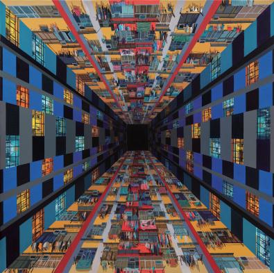 杨舒文作品 天眼 160x160cm 布面油画 2018