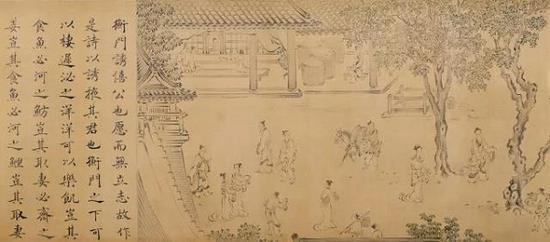 南宋 马和之 《诗经陈风十篇图卷》 上海博物馆提供
