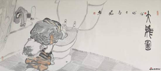 李亚光《大雅图》130 X52cm 中国画 纸本设色 2018
