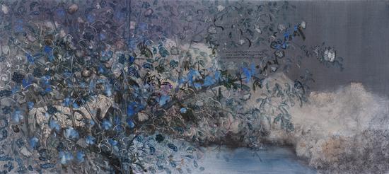 李瑞《花蕾的眼眸》180x80cm 布面油画 2015s