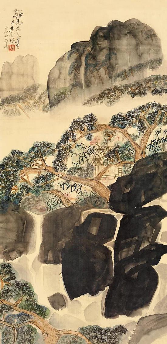 Lot.744 林风眠(1900-1991) 山居读书图
