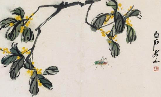 《叶隐闻声——齐白石十八开花卉工笔草虫册》最终以1.15亿元成交