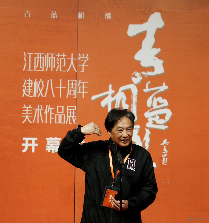 原文化部中国对外文化集团副总经理、对外艺术展览中心副主任理、对外艺术展览中心副主任、校友万纪元先生致辞