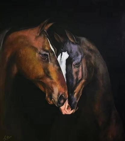 《马肖像01》布面油画,80 x 90 cm,2017
